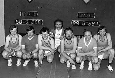 O výborné 3. místo v prvním ligovém ročníku se postaralo družstvo mužů v této sestavě: Josef Vejvara, Jiří Brumlich, Ladislav Křivka, Jaroslav Egrt, Vladimír Pavlata, František Drozen a Jiří Čapek.